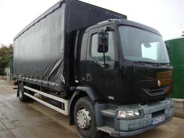 RENAULT CURTAINSIDE MIDLUM 220